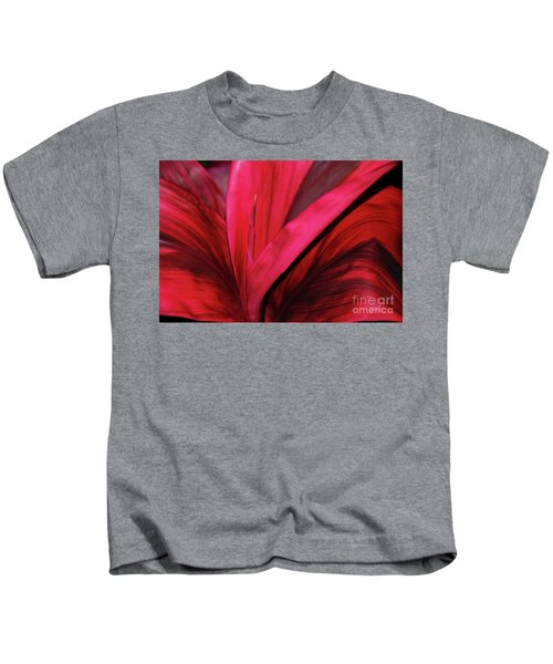 Red Ti Leaf Plant - Hawaii Kids T-Shirt