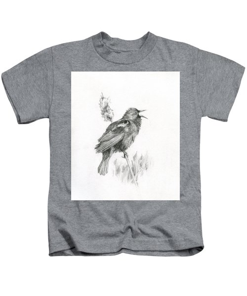 Red-winged Blackbird Kids T-Shirt