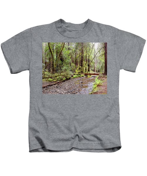 Redwood Creek Flowing Through Muir Woods National Monument - Mill Valley Marin County California Kids T-Shirt