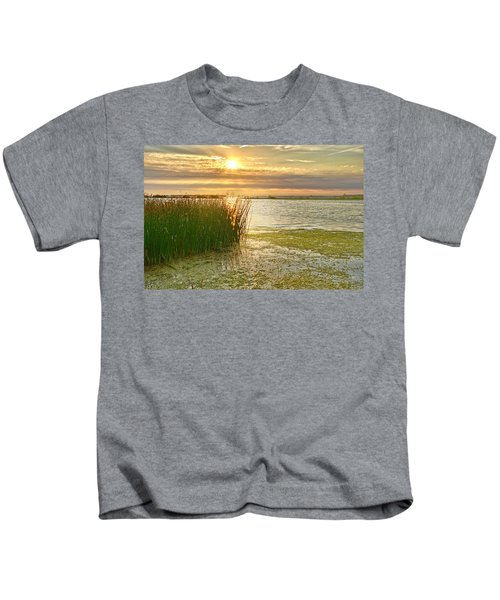 Reeds In The Sunset Kids T-Shirt
