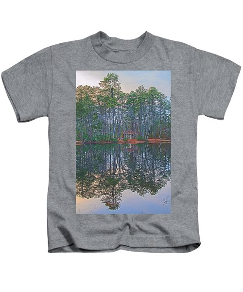 Reflections In The Pines Kids T-Shirt