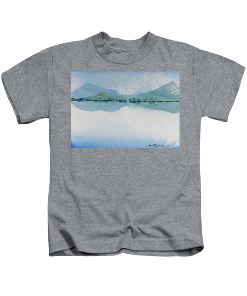 Reflections Of The Skies And Mountains Surrounding Bathurst Harbour Kids T-Shirt