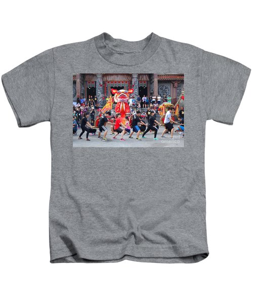 Religious Martial Arts Performance In Taiwan Kids T-Shirt