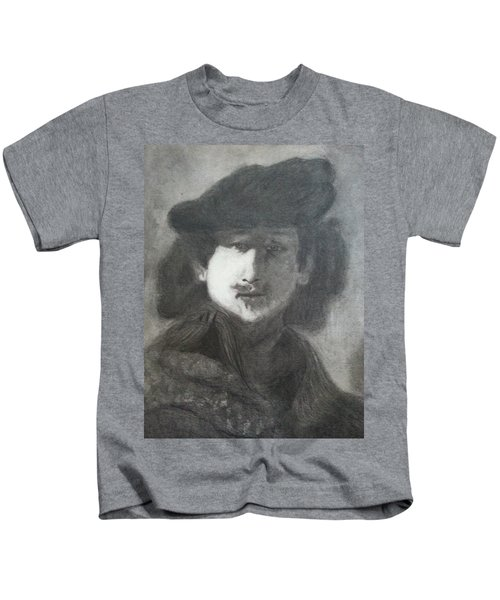 Kids T-Shirt featuring the drawing Rembrandt by Amelie Simmons