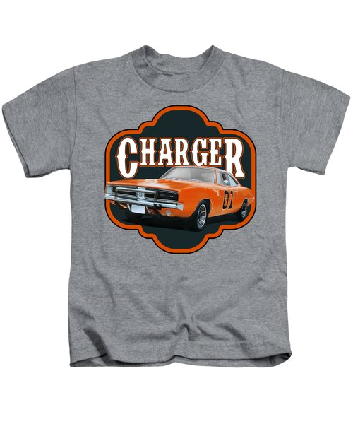 Retro Charger Kids T-Shirt