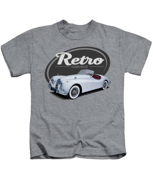 Retro Garage Jag Kids T-Shirt