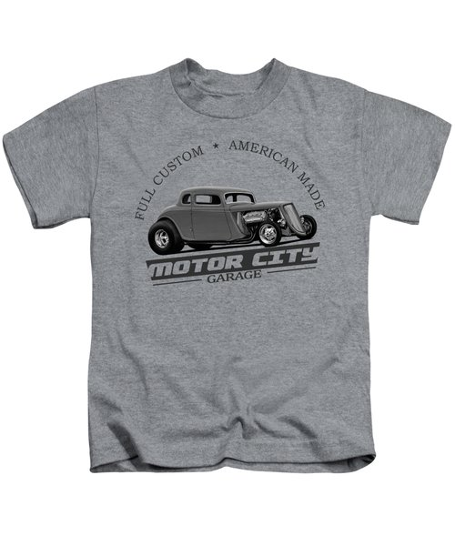 Retro Hot Rod Garage Kids T-Shirt