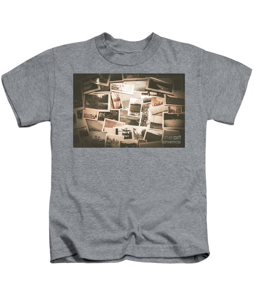 Retro Photo Album Background Kids T-Shirt