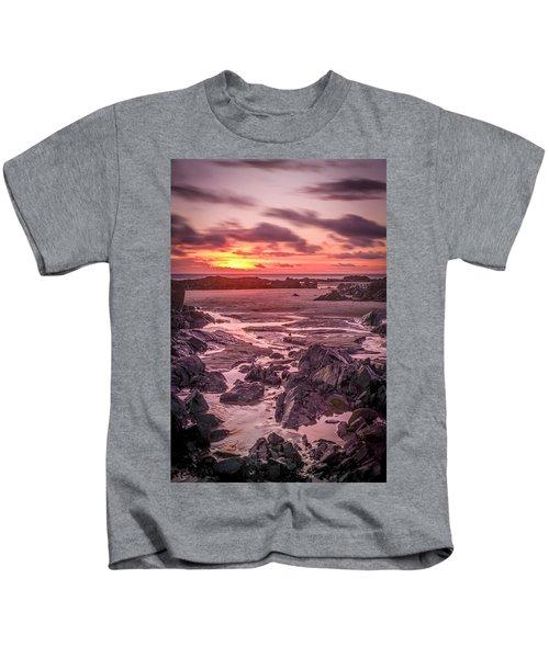 Rhosneigr Beach At Sunset Kids T-Shirt