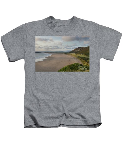 Rhossili Bay, South Wales Kids T-Shirt