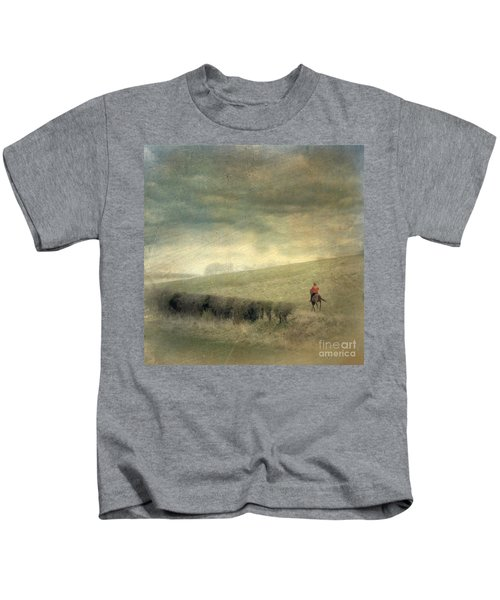 Rider In The Storm Kids T-Shirt