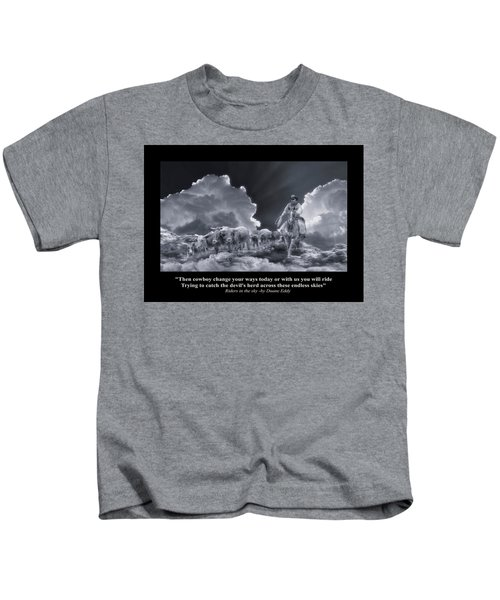 Riders In The Sky Bw Kids T-Shirt