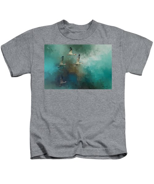 Riding The Winds Kids T-Shirt