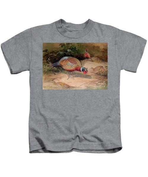 Ring Necked Pheasant Kids T-Shirt