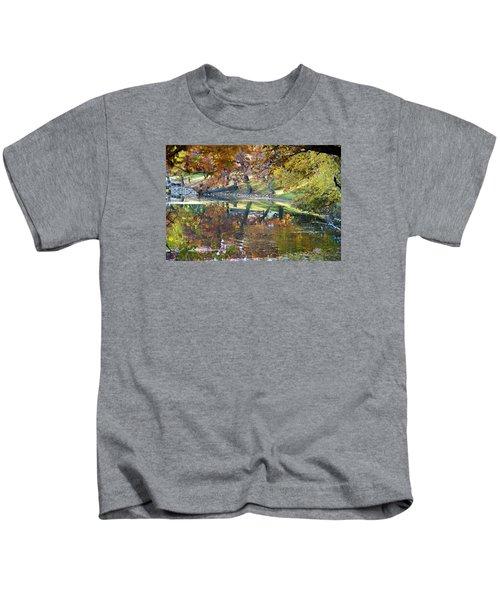 Ripples In An Autumn Lake Kids T-Shirt