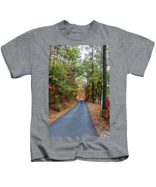 Road In The Woods Kids T-Shirt