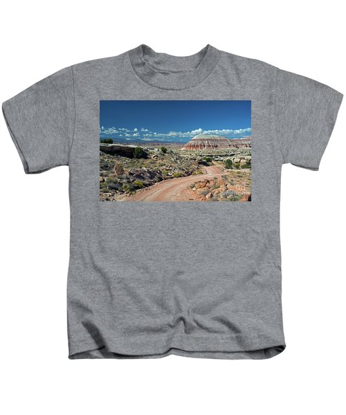 Road To Cathedral Valley Kids T-Shirt