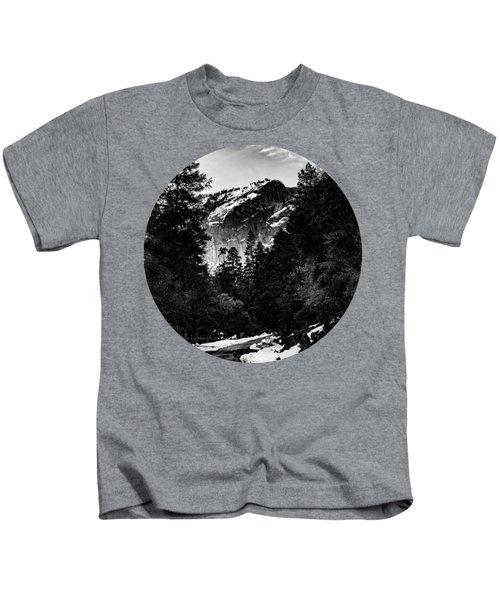 Road To Wonder, Black And White Kids T-Shirt