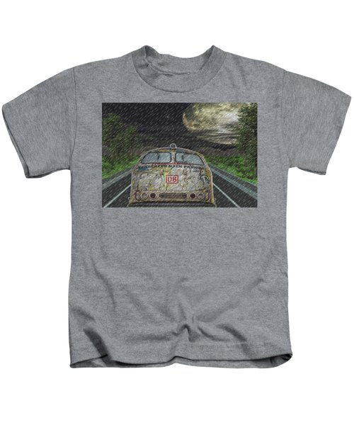 Road Trip In The Rain Kids T-Shirt