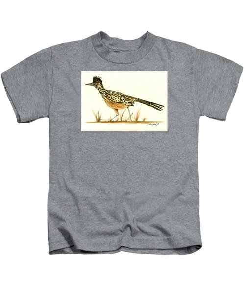 Roadrunner Bird Kids T-Shirt by Juan Bosco
