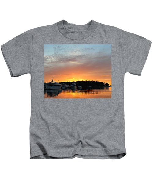 Roche Harbor Sunset Kids T-Shirt