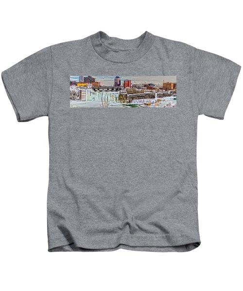 Rochester Winter Panorama Kids T-Shirt
