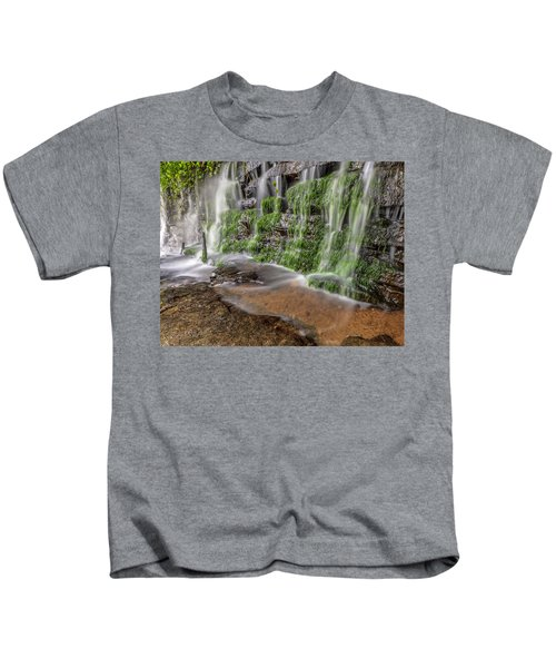 Rock Wall Waterfall Kids T-Shirt