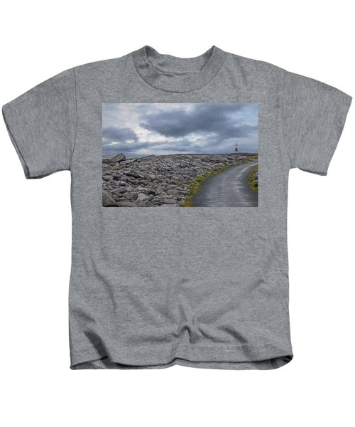 Rocky Road To The Lighthouse Kids T-Shirt