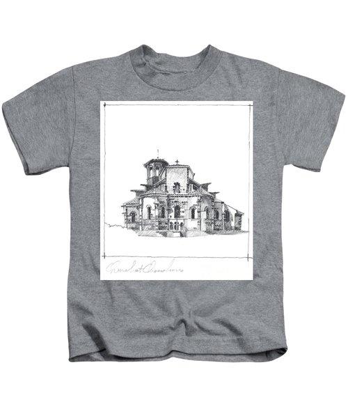 Roman Church At Chamalieres Kids T-Shirt
