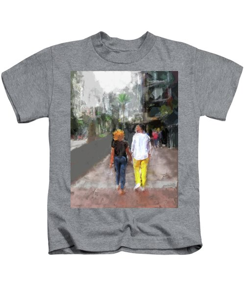 Romantic Couple Kids T-Shirt
