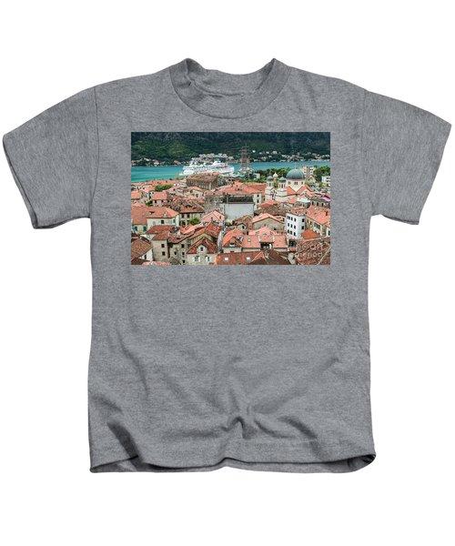 Rooftops Of Kotor  Kids T-Shirt