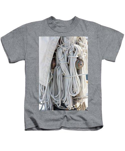 Ropes Of A Sailboat Kids T-Shirt