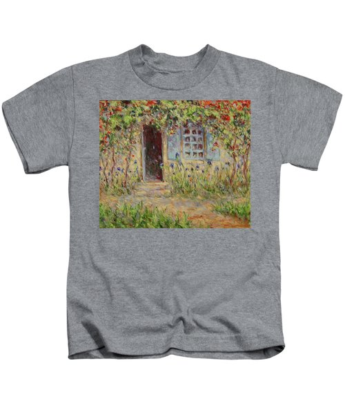 Rose Trees At The Front Of The House Kids T-Shirt