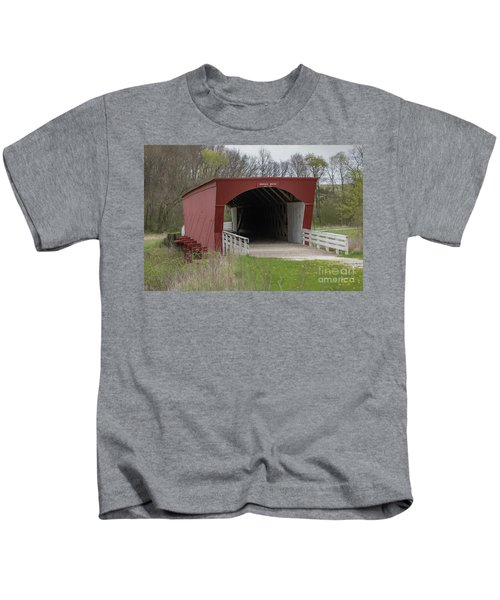 Roseman Covered Bridge - Madison County - Iowa Kids T-Shirt