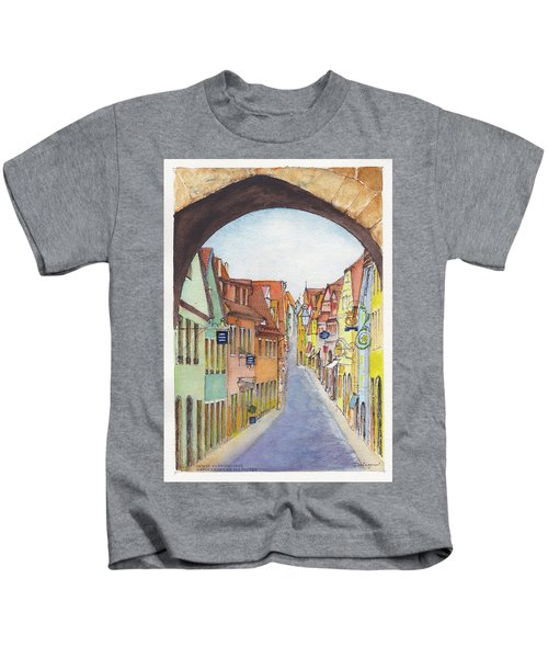 Rothenburg Ob Der Tauber Germany Kids T-Shirt