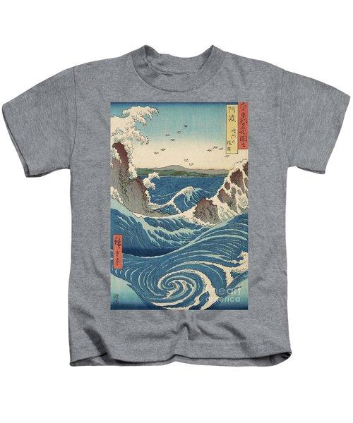 Rough Seas At The Whirlpools Of Awa Kids T-Shirt