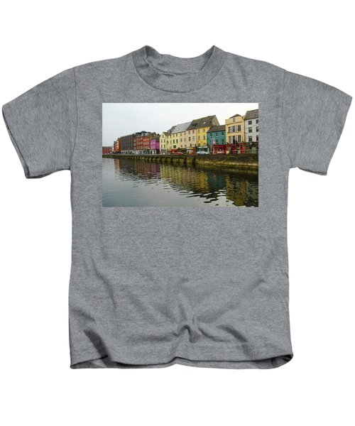 Row Homes On The River Lee, Cork, Ireland Kids T-Shirt