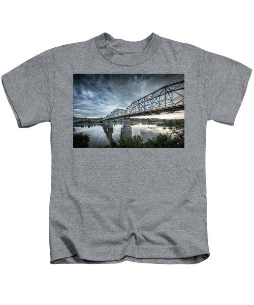 Rowing Under Walnut Street Kids T-Shirt