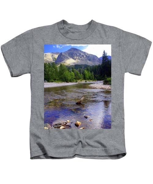 Running Eagle Creek Glacier National Park Kids T-Shirt