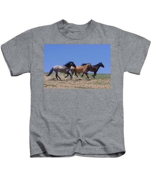 Running Free- Wild Horses Kids T-Shirt