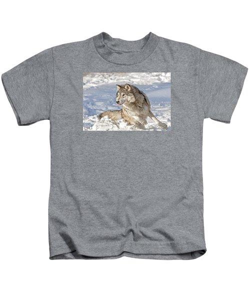 Running Wolf Kids T-Shirt