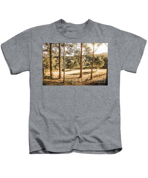 Rural Paddock In Australian Countryside Kids T-Shirt
