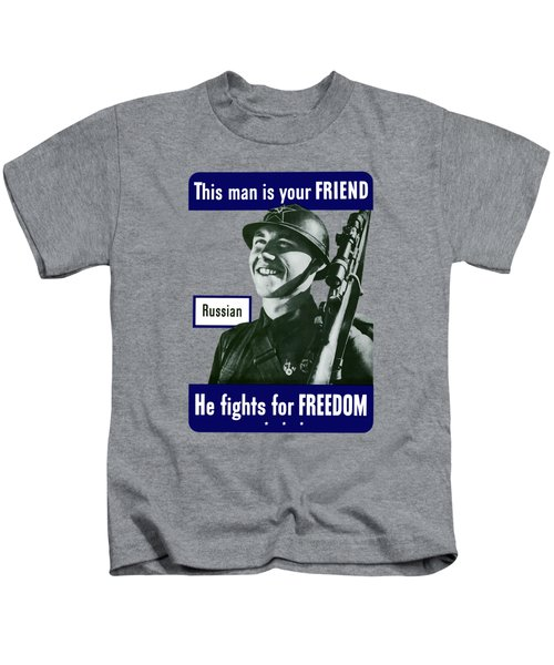 Russian - This Man Is Your Friend Kids T-Shirt