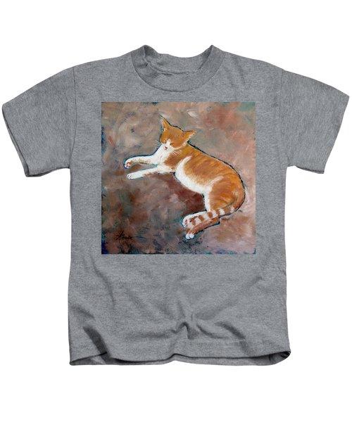 Saddle Tramp- Ranch Kitty Kids T-Shirt