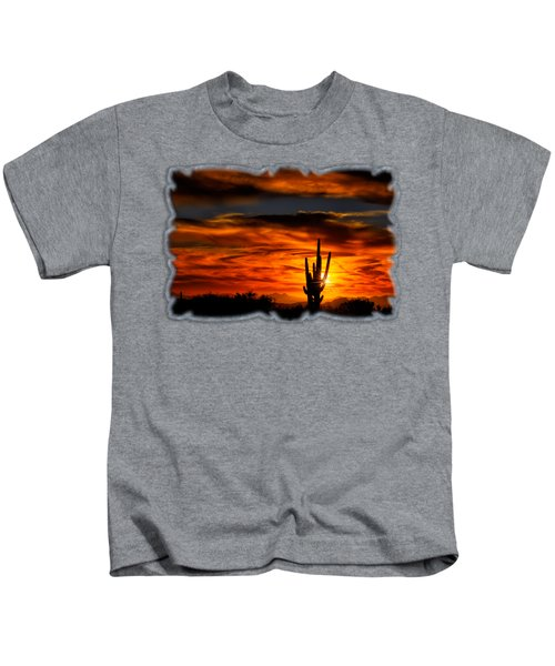 Saguaro Sunset H31 Kids T-Shirt