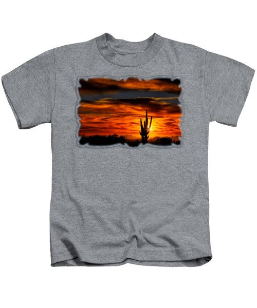 Saguaro Sunset H31 Kids T-Shirt