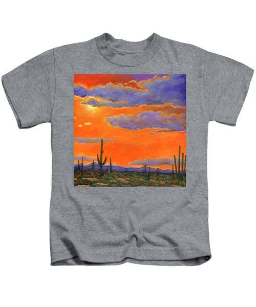 Saguaro Sunset Kids T-Shirt