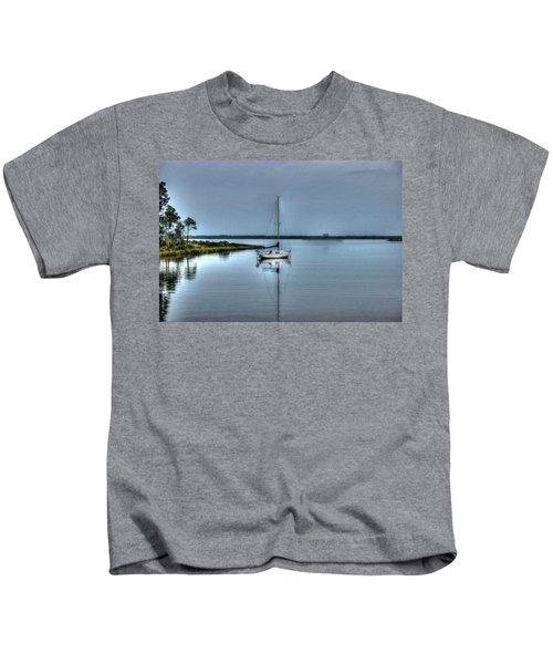 Sailboat Off Plash Kids T-Shirt