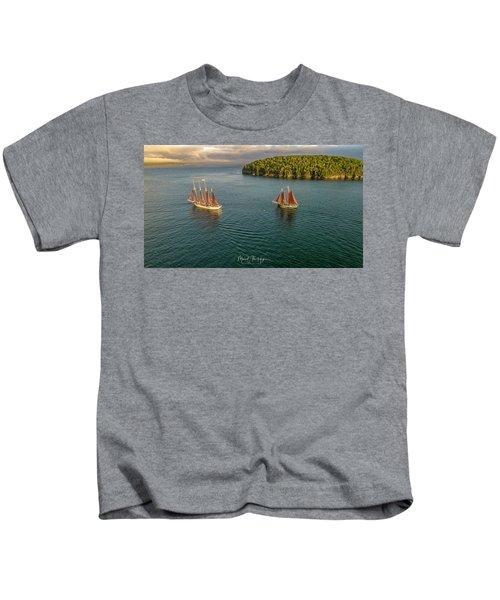 Sailing Frenchman Bay Kids T-Shirt