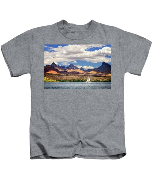 Sailing In Havasu Kids T-Shirt